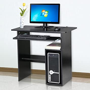 Tinkertonk Small Computer Desk Home Office Study Desk With Sliding