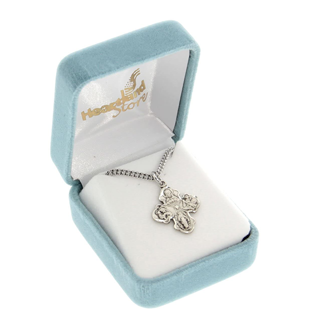 Heartland Sterling Silver Womens 4-Way Cross Necklace Chain Choice Best Quality USA Made