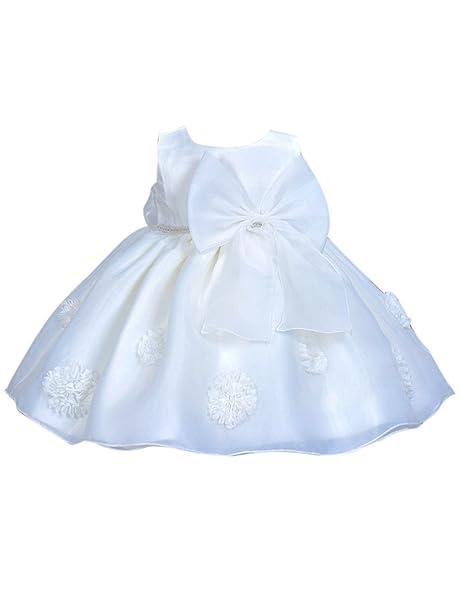 Happy Cherry - Falda Tutú Niñas Bebés recien nacido para Boda Bautizo Fiesta  Ceremonia de Flores 16a9d524f667