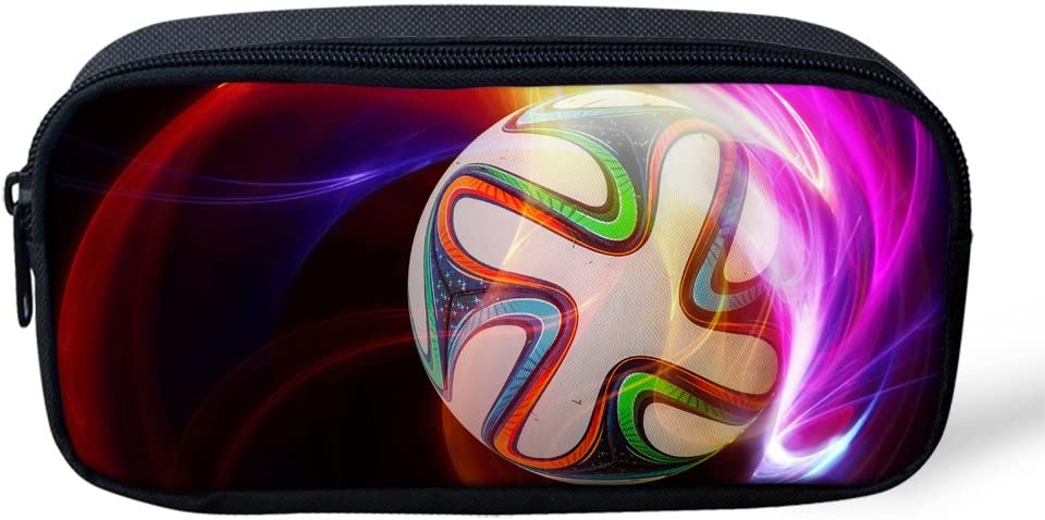 Cool Football Print Back to School Gift Pencil Pouch Case for Kids Children Student
