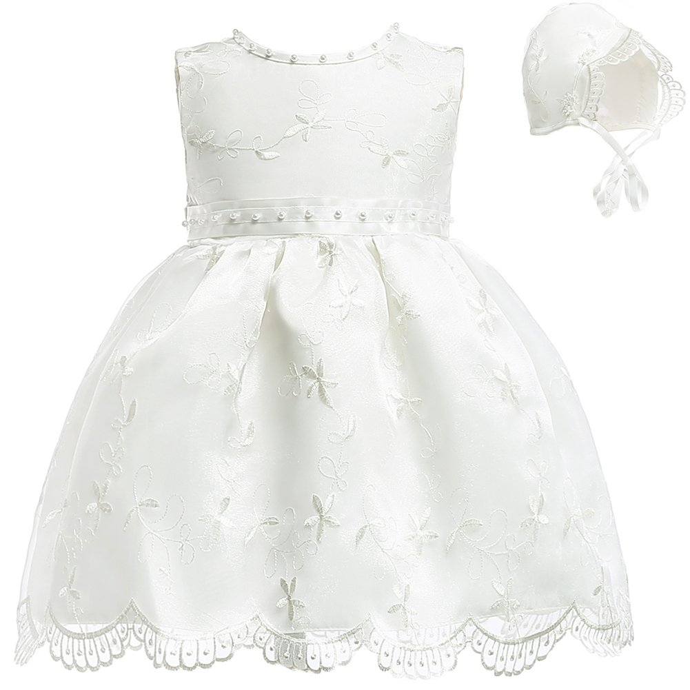 Fancy Luu Christening Gowns Christ Baptism Dresses for Baby Girls Hand-embroidered Pearl Baptismal Dress Suit