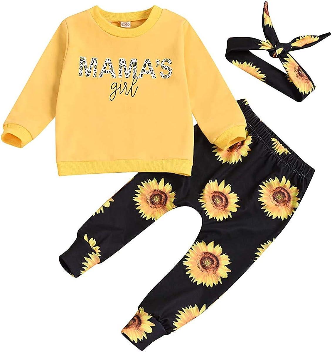 4Pcs Infant Girl Outfits Baby Sister Bodysuit Tops Floral Leggings Pants Set Bowknot Headbands Newborn Pajamas Clothes