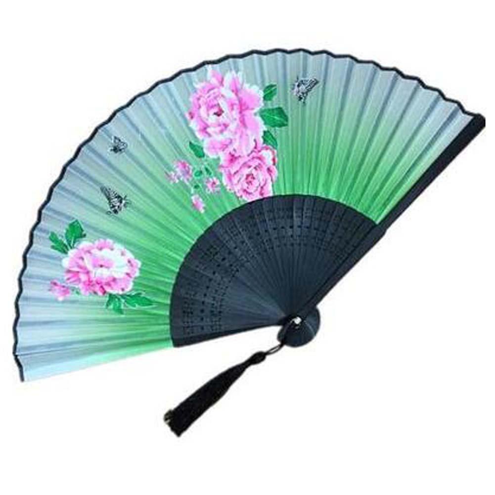 Panda Superstore Silk Handheld Handheld Fan Folding Fan Aya Silk Folding Fan Chinese/Japanese