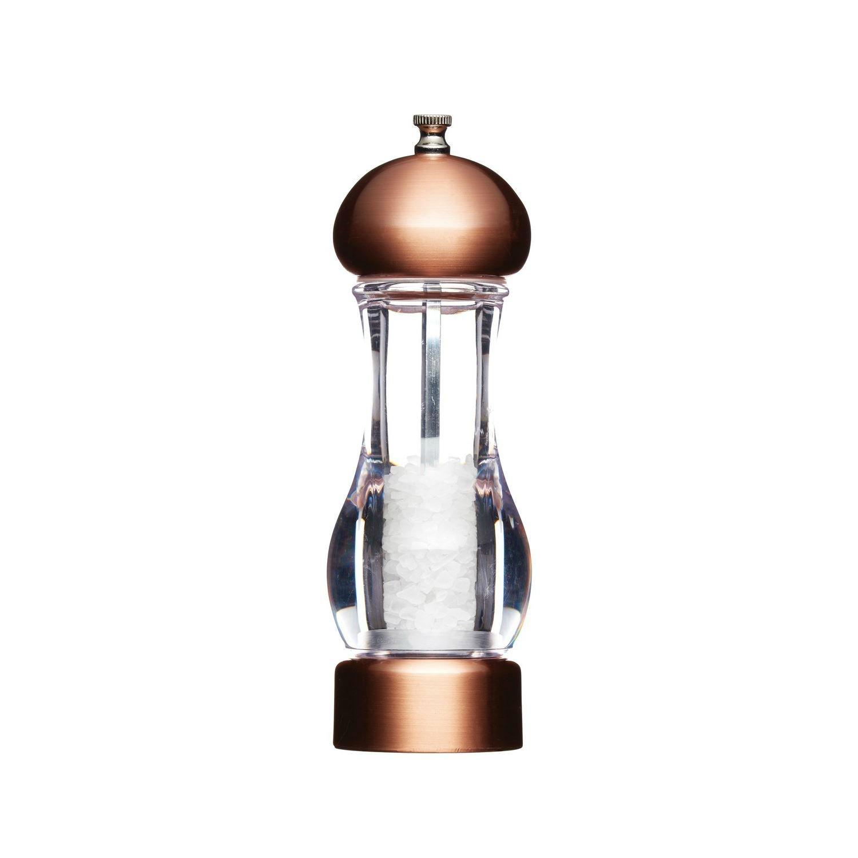 Salt Mill / Grinder - Copper Effect - Ceramic Grinding Mechanism 19cm Master Class