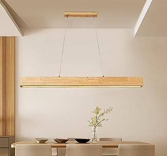 Esstischlampe LED Pendelleuchte Holz Pendellampe Acryl Höhenverstellbar  Hängelampe Deckenlampe Holzlampe Kronleuchter Hängeleuchte Esstisch Für  Büro .