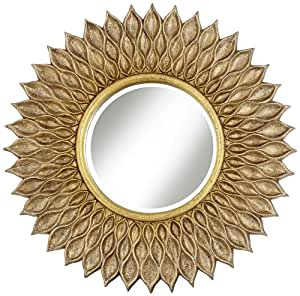 Amazon Com Sunflower 36 Quot Wide Antique Gold Wall Mirror