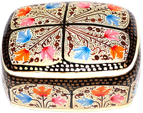 Jewelry Box, Gift Box. 100% Handmade and Hand Painted Paper Mache Product from the Artisans of -