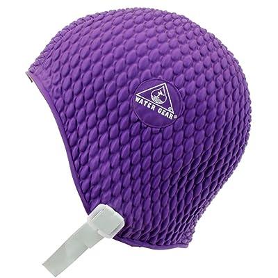 Bubble Swim Cap - Small/Purple