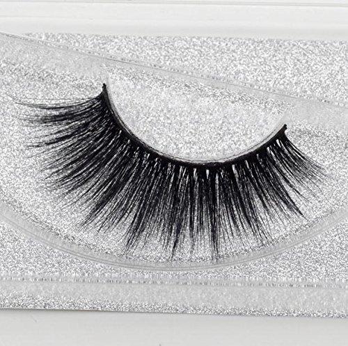 Beauty Mink Eyelashes 3D MINK False Eyelashes Messy Cross Dramatic Fake Eye Lashes Professional Makeup Lashes ()