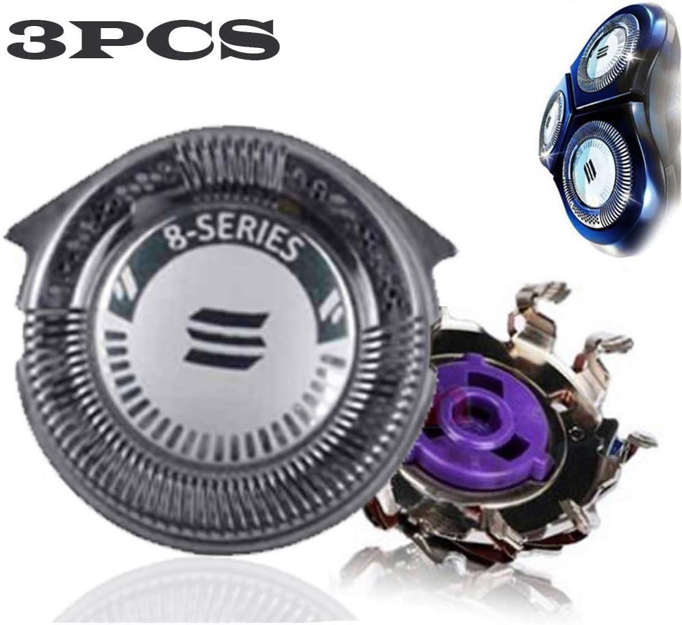 Heallily Cabeza de Afeitadora de Repuesto Compatible para las Afeitadoras de Serie Philips Norelco HQ8 / HQ8894 / HQ7160 3 Unidades
