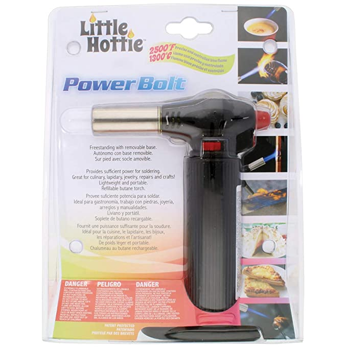 Amazon.com: Little Hottie Power Bolt Butane Torch - Black - Freestanding Removable Base - Soldering, Culinary, lapidary, jewerly, Repairs, ...