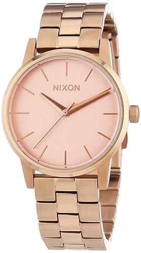 Nixon Small Kensington All Rose Gold A361897-00 - Reloj analógico de cuarzo para mujer, correa de acero inoxidable chapado color dorado: Amazon.es: Relojes