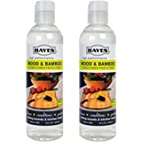 Bayes High-Performance Food Grade Mineral Oil Wood & Bamboo Conditioner and Protectant - Cleans, Conditions and Protects Wood