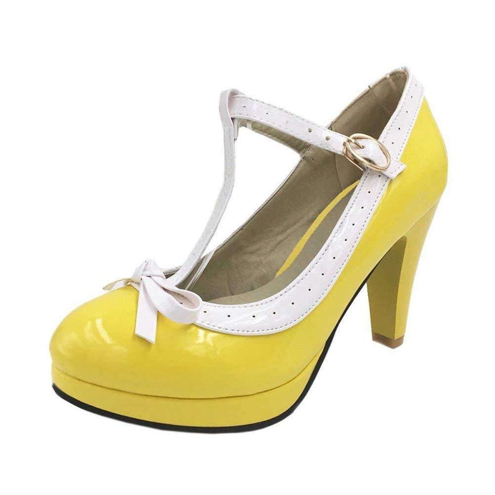 Damen T Strap High Heels Pumps Plateau mit Schleife Lolita Cosplay  Rockabilly Schuhe  Amazon.de  Schuhe   Handtaschen 5f5b5d37bd