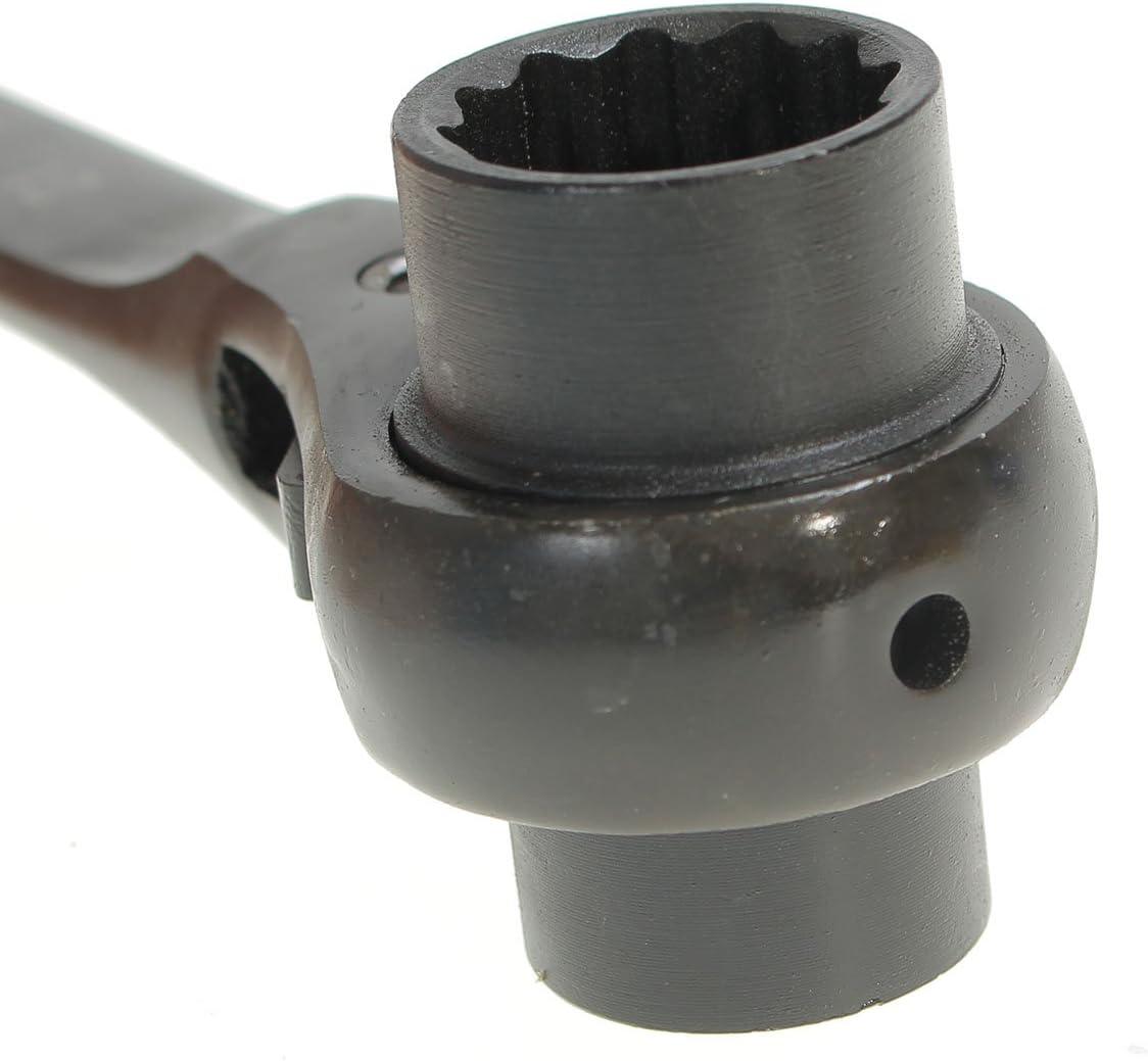 HELEISH Cl/é en acier de cl/é /à douille de cliquet conique dextr/émit/é d/échafaudeurs de poign/ée en acier de 19x21mm Outil accessoire