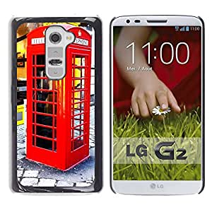 Hot Style Cell Phone PC Hard Case Cover // M00171133 Phone Booth Phone Mobile Phone Old // LG G2 D800 D802 D802TA D803 VS980 LS980