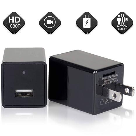 Mini Camara Espia Camara Oculta De Alta Definición De 1080P USB Cargador De Pared Cargador USB ...