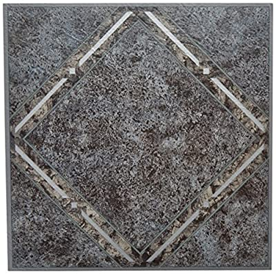 Achim Home Furnishings FTVGM33420 Nexus Self Adhesive Vinyl Floor Tiles, Metallic Marble Diamond, 12 x 12-Inch, 20-Pack