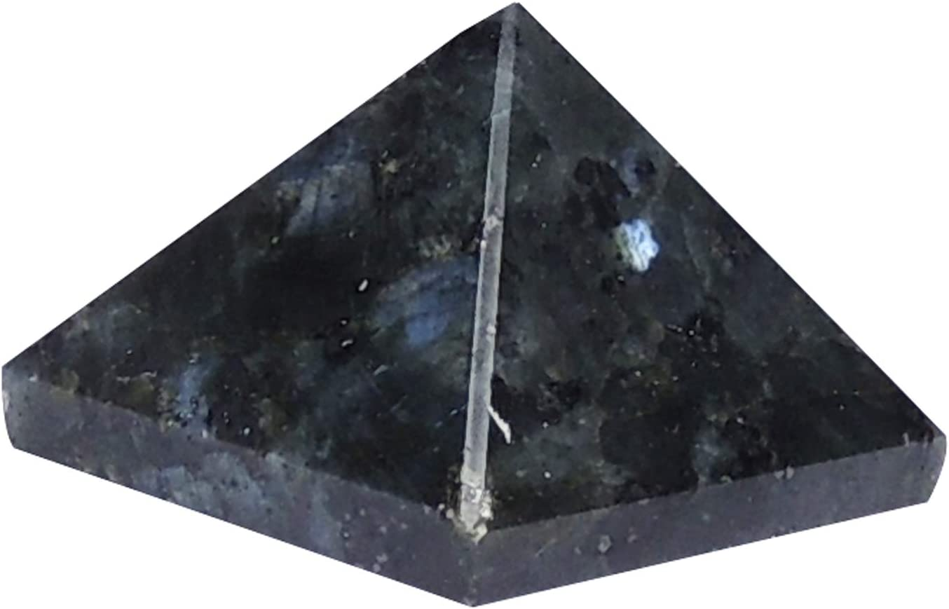 Satyamani Natural Energised Granite With Blue Fire Pyramid 30Mm