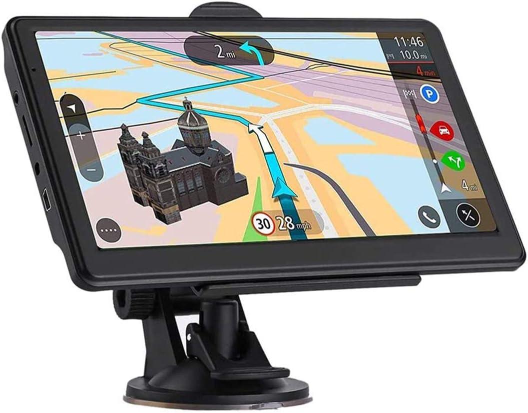 Navegación GPS para Coches, Dispositivos Navegación con Pantalla Táctil 7 Pulgadas Carro, Ambulancia, Autobús, Taxi Navigator con Lenguajes Libres Actualización del Mapa De Europa