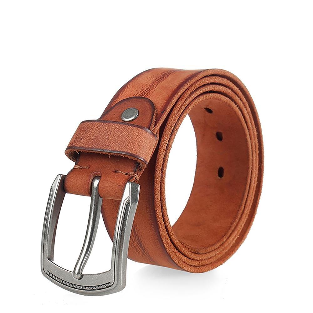 DISIWEI Mens Pin Buckle Leather Full Grain Business Belt 567