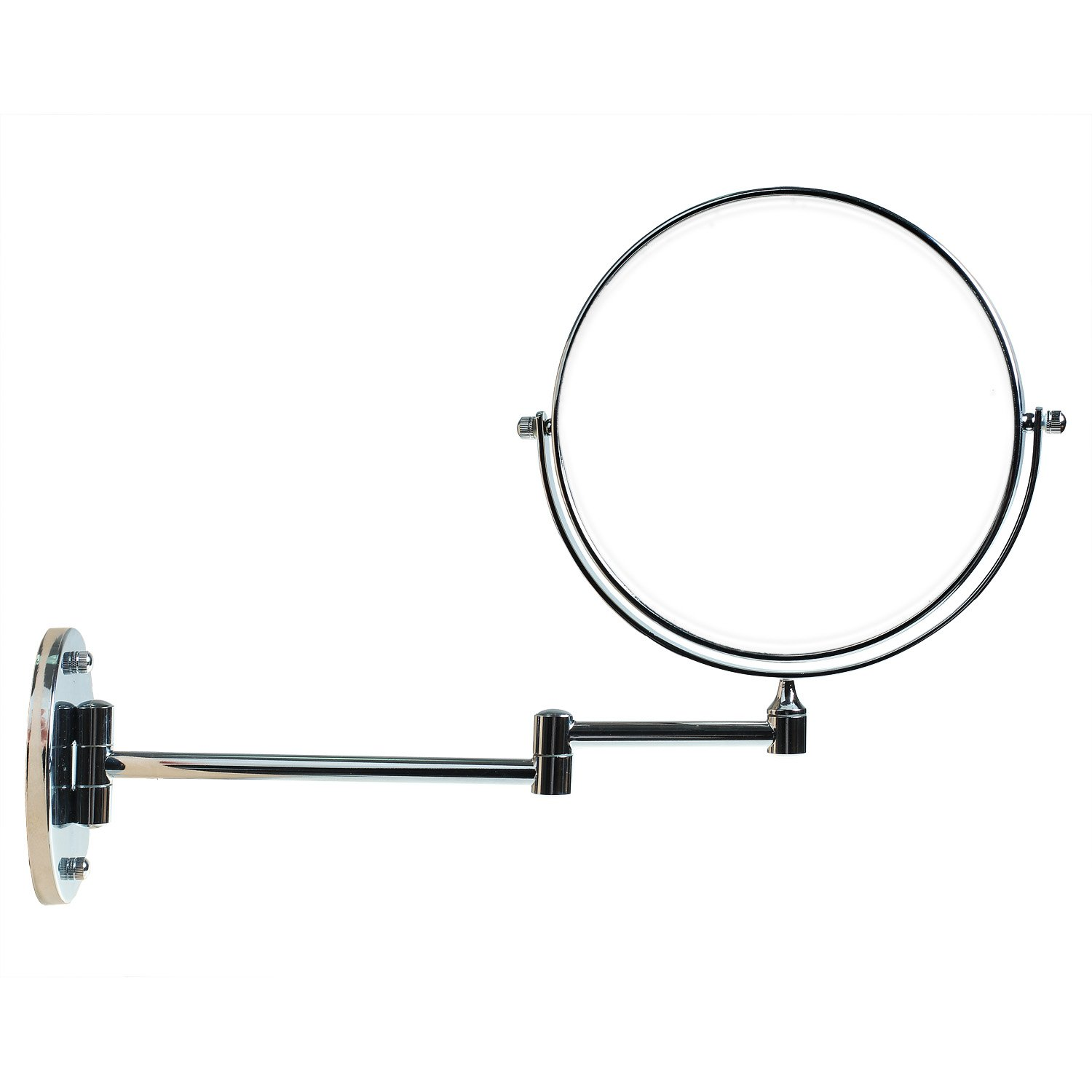 TUKA Wall-Mounted Vanity Mirror 7x Zoom, 8 Inch Foldable Make Up Mirror with or Without Drilling, Two-Sided Bathroom Wall Mount Cosmetic Mirror Shaving Mirror Chrome, x7 Magnification TKD3107-7x TUKAI
