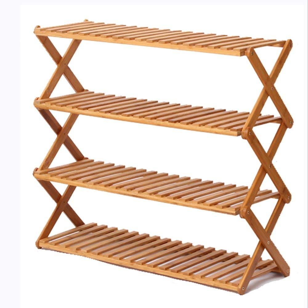 NAN liang 竹家庭折り畳み靴ラック/多層シンプルな靴箱/玄関クリエイティブシューズ収納ラック (色 : C, サイズ さいず : 60 cm 60 cm) B07MP44S1Y