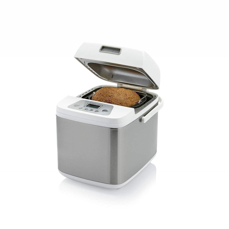 acero inoxidable capacidad de 750 gramos 500 w Princess 152007 1 programa especial sin gluten Panificadora Deluxe blanco 19 programas digitales