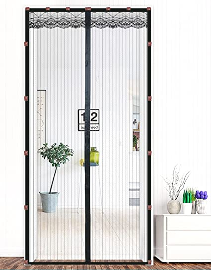Liveinu Magnetic Screen Door Screen Mesh Curtain with Upgraded Adhesive Clip Install Fits Doors Up To  sc 1 st  Amazon.com & Liveinu Magnetic Screen Door Screen Mesh Curtain with Upgraded ...