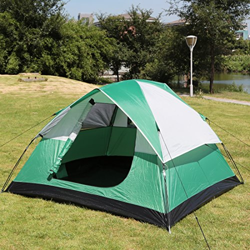 ShinyFunny 2-3 person Camping Tent 3-Season Lightweight Backpacking Traveling Tent with Carry Bag