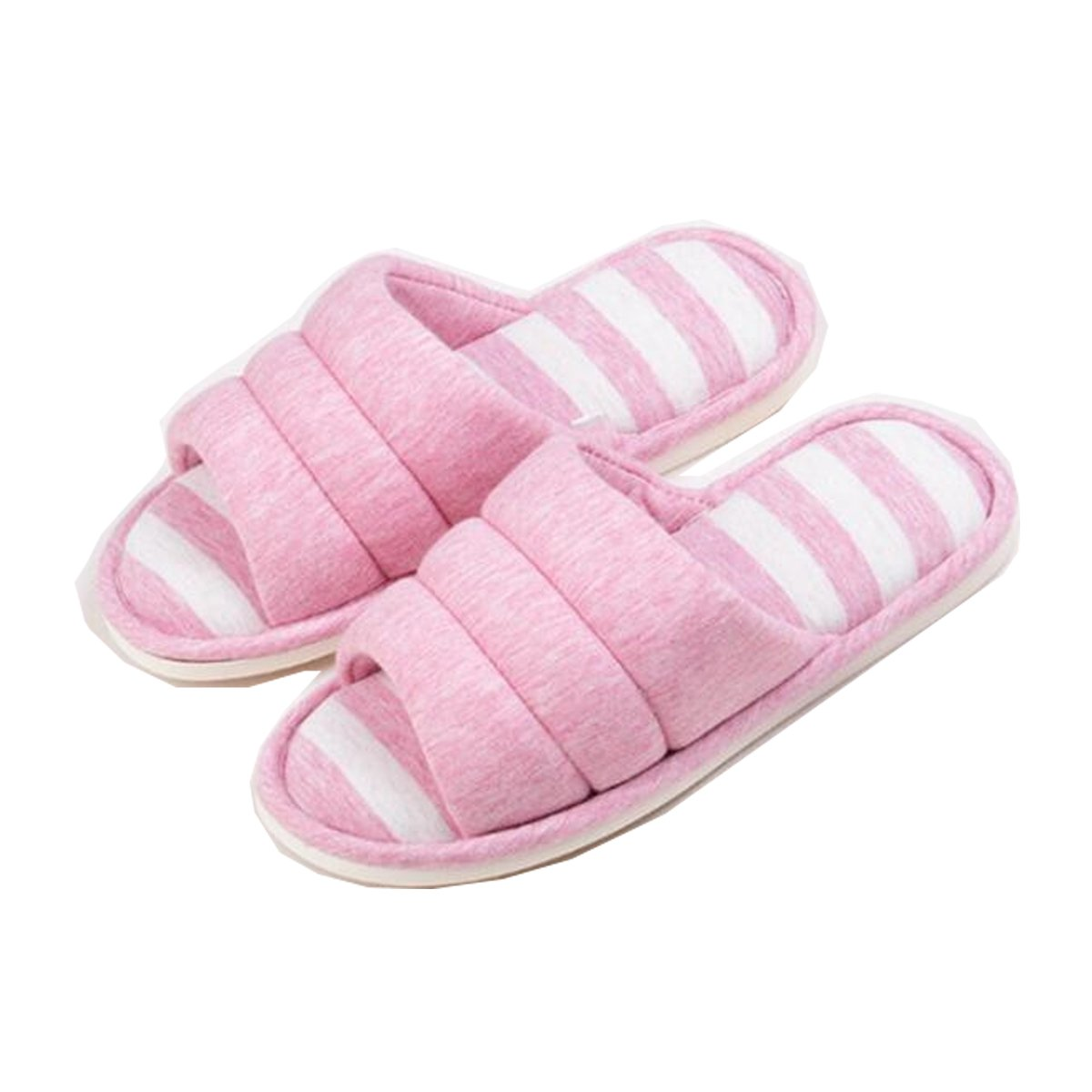 Sakuracan Women/Men Cozy Home Slippers Open Toe Cotton Memory Foam Slip on Indoor Outdoor Lightweight Home Shoes