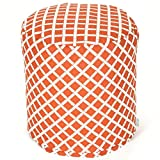 Majestic Home Goods Burnt Orange Bamboo Indoor/Outdoor Bean Bag Ottoman Pouf 16'' L x 16'' W x 17'' H