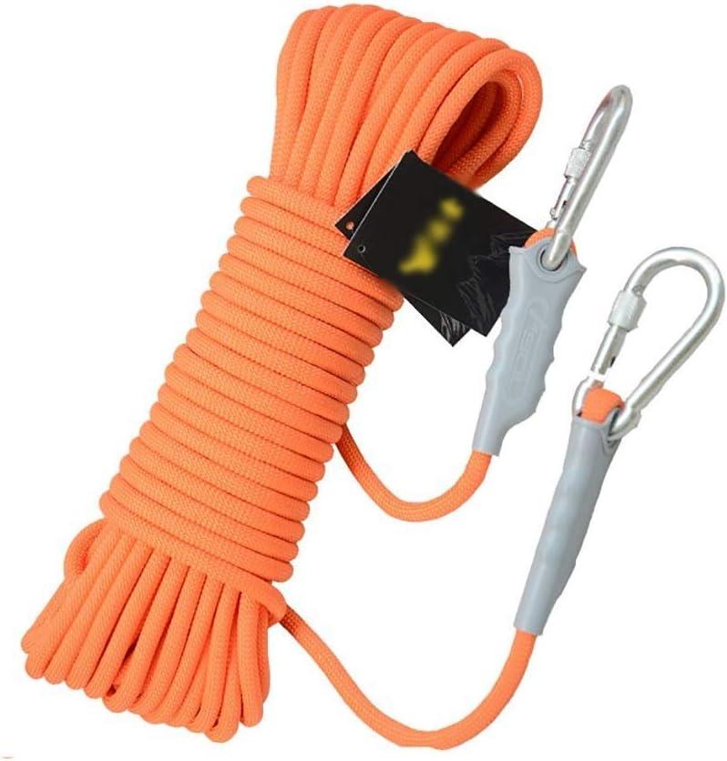ロープ、ロープクライミングロープナイロンロープエスケープ機器を懸垂下降12ミリメートル安全ロープクライミングクライミング、40メートル/ 30メートル/ 20メートル/ 10メートル (Color : オレンジ, Size : 30 m) オレンジ 30 m