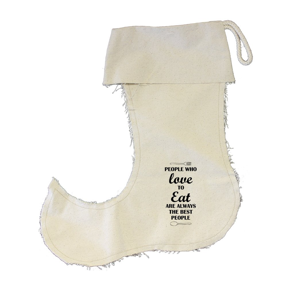 People Who Love To Eat Are Cotton Canvas Stocking Jester - Small
