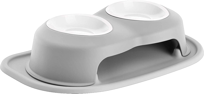 WeatherTech Double High Pet Feeding System w/Plastic Dog/Cat Bowls