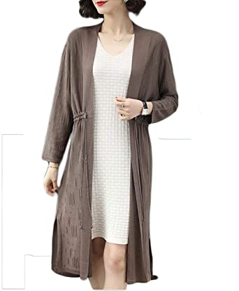Section Longue Lâche Taille Nouvelle Tricotée Femme Grande Veste 7I6yYbfvg