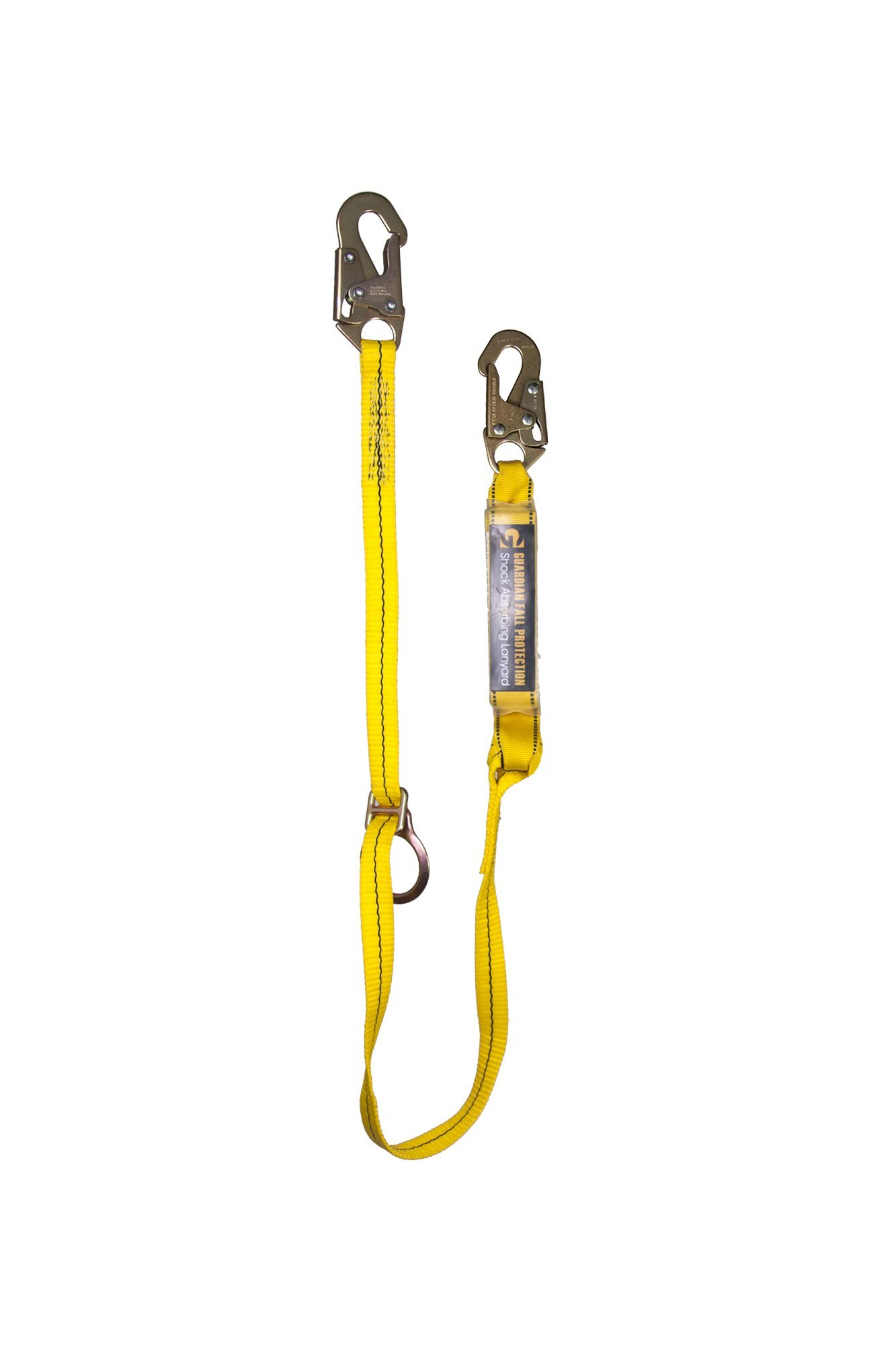 Guardian Fall Protection 01290 6-Foot Tie-Back Lanyard with Adjustable D-Ring