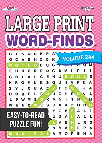 large print word finds puzzle book word search volume 244