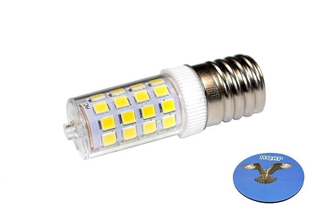 HQRP – 220 V E17 LED de intensidad regulable bombilla de luz blanca fría para LG