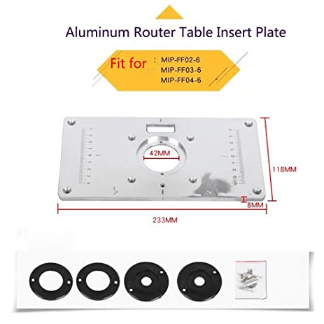 Aluminum router table insert plate for popular router trimmers aluminum router table insert plate for popular router trimmers models engrving machine diy woodworking benches keyboard keysfo Image collections