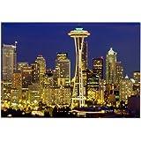 "CafePress - Seattle - Rectangle Magnet, 2""x3"" Refrigerator Magnet"