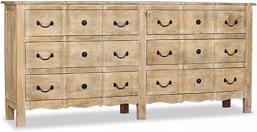 Furnituredeals Buffet Pas Cher Buffet 6 Tiroirs En Bois De