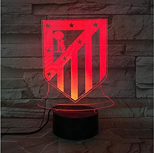Led Night Light Club Atletico De Madrid 3D Illusion Niños La Liga ...