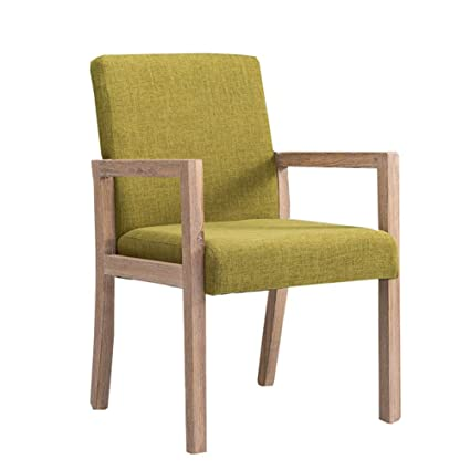 Dining Chair YXX Modern Upholstery Side With Arms Wood Fabric Armchair Table Chairs