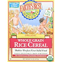 El mejor cereal para bebés de Earth - Rice - 8 Oz - 2 Pk