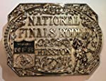 HESSTON 2017 NATIONAL FINALS RODEO NFR ADULT BELT BUCKLE NEW SILVER PLATED WRANGLER PRORODEO