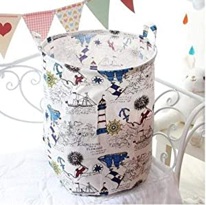 yqs Storage Box Dirty Hamper Basket Dirty Dirty Clothes Hamper Laundry Hampers,Lighthouse Rudder Laundry Hampers Fashion Design Thick Large-Capacity Collapsible Storage Bag Durable with Handle Organi