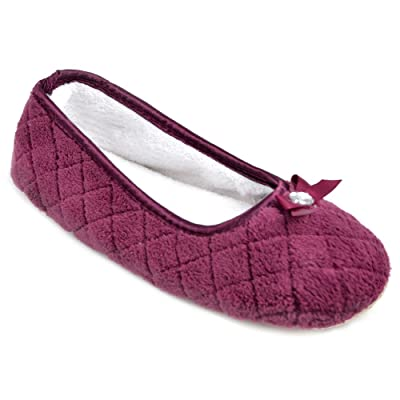 Krishwear - Zapatillas de estar por casa de Tela para mujer