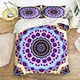 Picture It On Canvas Family Comfort Bed Sheet Classic Mandala 4 Piece Bedding Sets Polyester Duvet Cover HypoallergenicOversized Bedspread,King Size