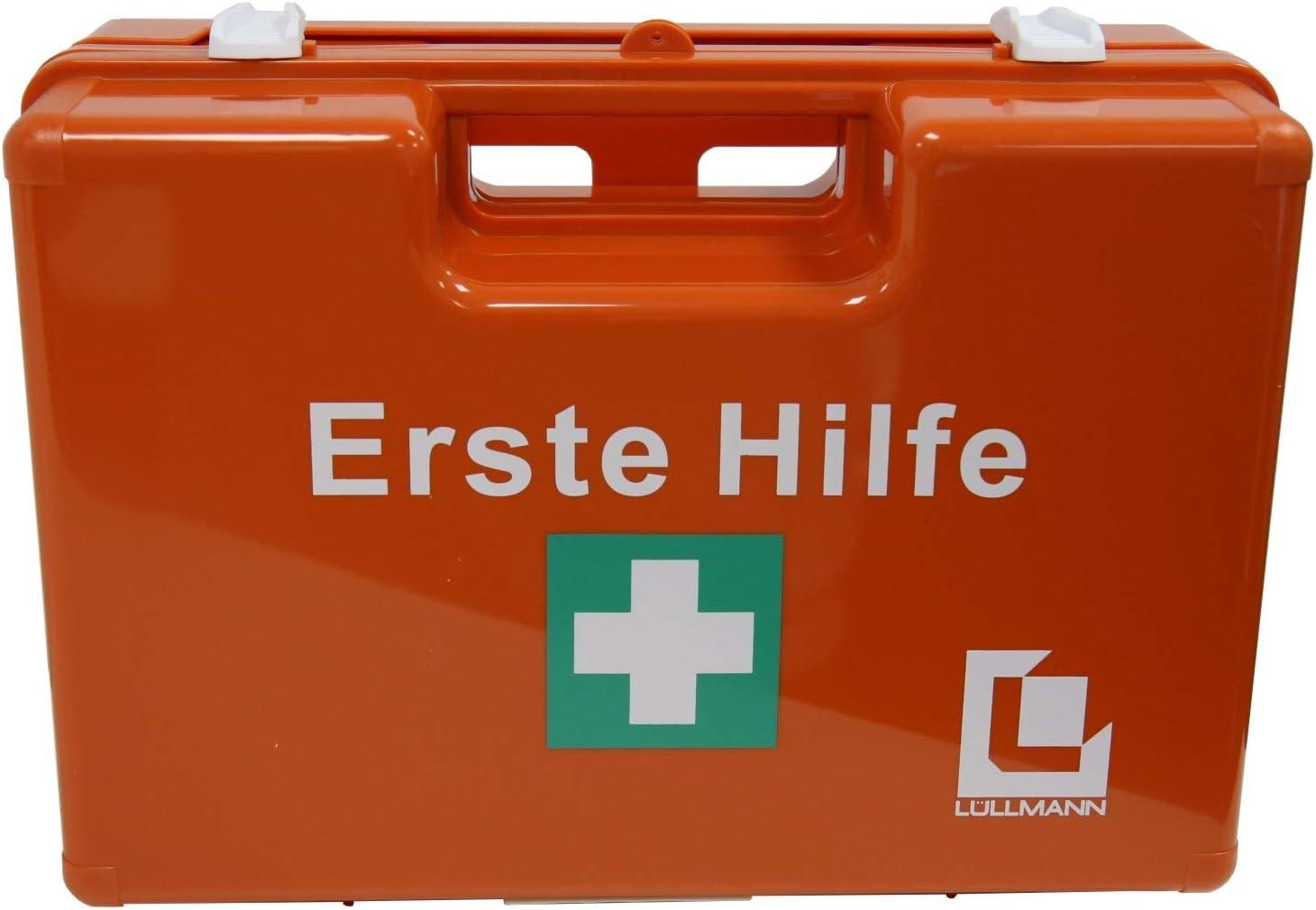 Großer Betriebs Verbandskasten Erste Hilfe Koffer Din 13169 Lüllmann Verbandkasten Orange 620155 Bürobedarf Schreibwaren